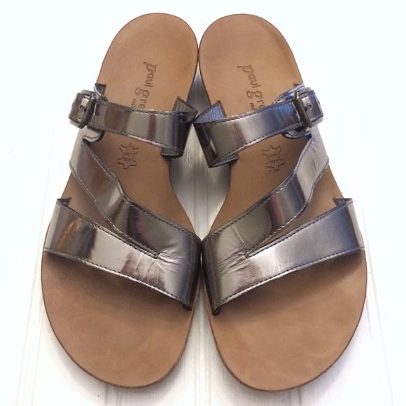 5152ab12143 Paul Green metallic silver slide buckle sandals. M_5b3301b2a5d7c6975eb1fc02